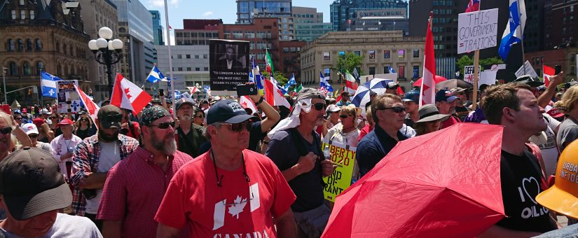 Exclusive: Canadians March To U.S. Embassy Chanting 'We Love Trump' on Canada Day (Must Watch)